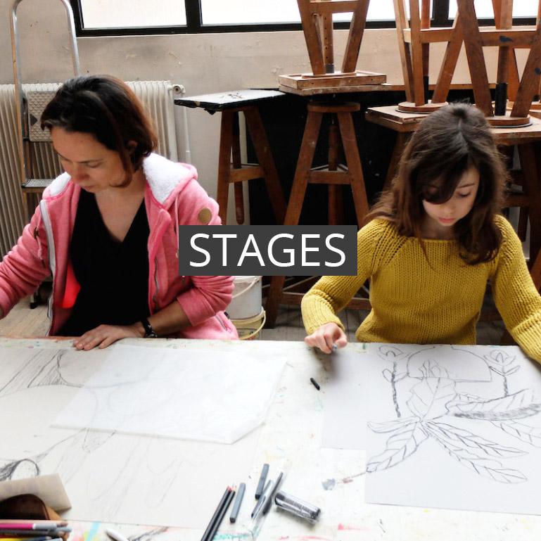 Ceci est une présentation des différents stages de dessin, peinture, gravure ou sculpture au sein de la sbac à Clamart