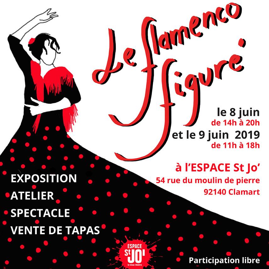 Il s'agit de l'affiche faite pour la soirée la sbac rencontre encanto flamenco à St Jo à Clamart