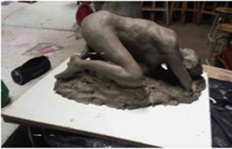 cours sculpture modelage avec martine Vallée sbac