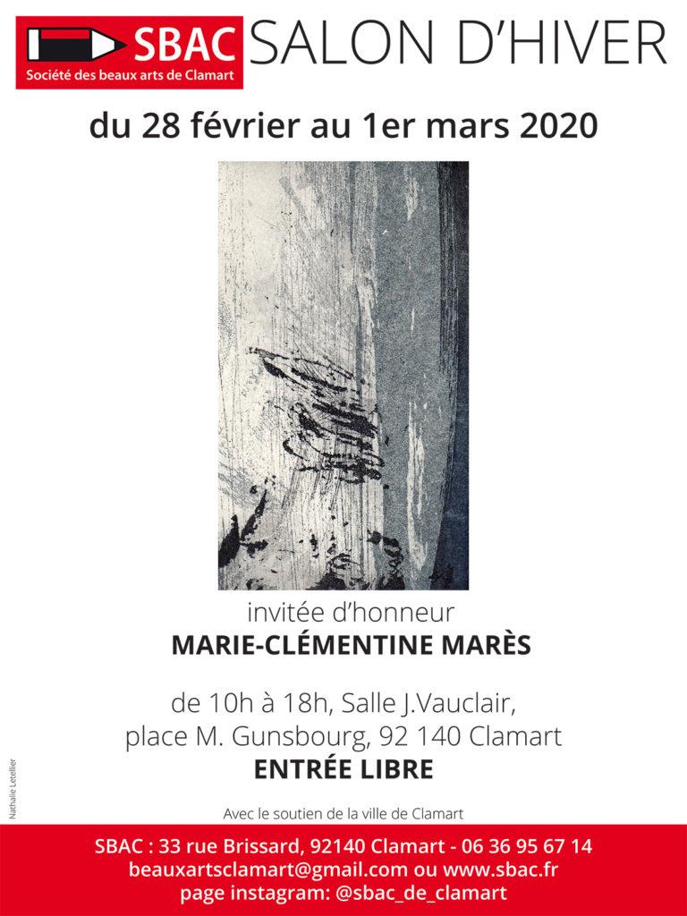 salon d'hiver sbac invitee Marie-Clementine Mares graveur